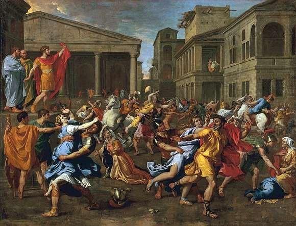 Nicolas Poussin - Der Raub der Sabinerinnen